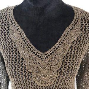 Tommy Bahama embellished net sweater